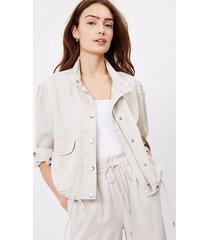 loft tall soft twill drawstring jacket