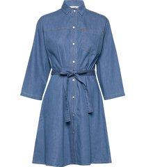 shani chambray shirt dress kort klänning blå french connection