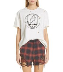 women's r13 steal your face distressed graphic tee