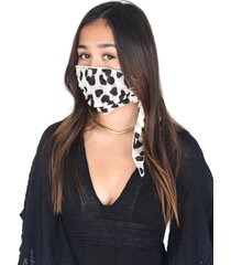 women's mali + lili adult four layer adult mask scarf, size one size - beige