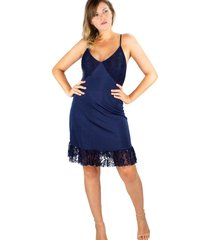 vestido modisch slip dress azul