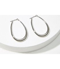 loft elongated hoop earrings