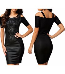 dress sexy for women off shoulder pu bodycon mini dresses