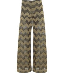 m missoni jersey lurex straight pants
