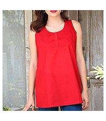 cotton blouse, 'crimson charm' (india)