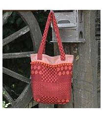 cotton tote bag, 'orange versatility' (thailand)