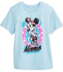 disney juniors' airbrushed minnie mouse graphic t-shirt