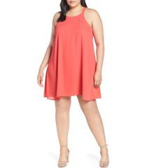 plus size women's gibson x hi sugarplum! naples swing halter dress, size - (plus size) (nordstrom exclusive)