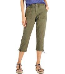 style & co petite utility capri pants, created for macy's