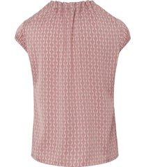 blouse met ronde hals en korte vleugelmouwen van comma, multicolour