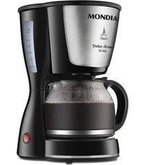 cafeteira elétrica corta pingo mondial dolce arome preta 32 xícaras - 220v