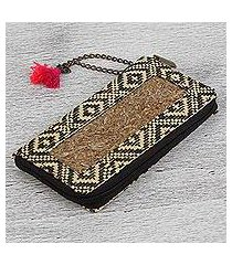 natural fiber wallet, 'texture and tradition' (mexico)