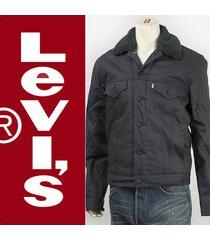 new levi's men's sherpa trucker jacket dark graphite twill all sizes