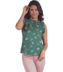 blusa adrissa estampado floral
