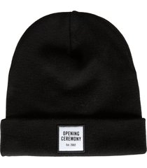 opening ceremony small box logo patch beanie