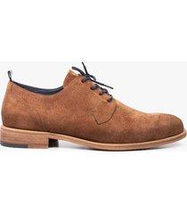 zapatos clipper de cuero con cordón