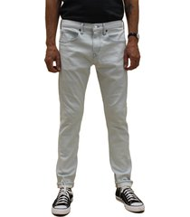 men's kato tapered fit stretch selvedge jeans, size 36 - blue