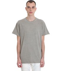 john elliott anti expo tee t-shirt in beige cotton