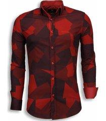 slim fit blouse - modern army pattern