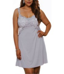 icollection women's modal and lace shelf bra chemise