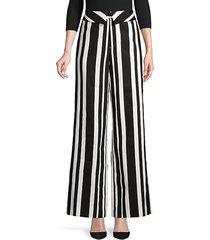 striped linen-blend pants