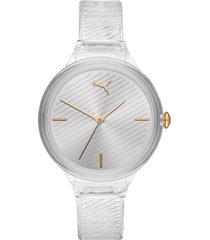 reloj análogo transparente puma