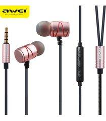audífonos bluetooth manos libres inalámbricos, 910ty auriculares estéreos atados con alambre portables atados con alambre de la música del en-oído (oro de rose)