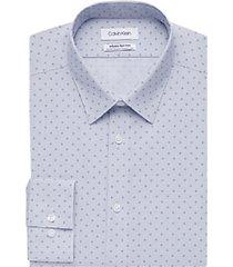 calvin klein dark blue patterned slim fit dress shirt