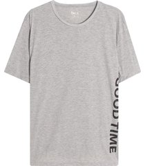 camiseta m/c con screen good time color gris, l