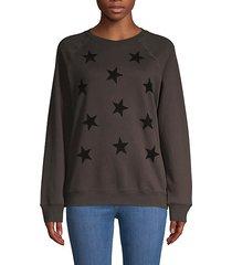 raglan-sleeve cotton-blend sweatshirt