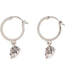 alexander mcqueen earrings with crystals