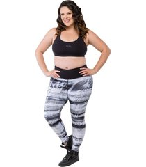 calça trinys legging double side plus size preto e branco
