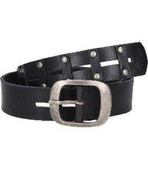 cinturón cuero con detalles de remaches negro zappa