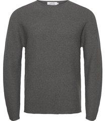 knitted crewneck gebreide trui met ronde kraag grijs ljung by marcus larsson