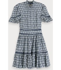 scotch & soda viscose jurk met print