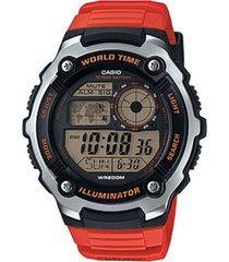reloj deportivo kcasae 2100w 4a casio-rojo