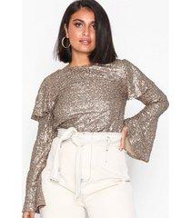 nly trend sparkle flounce blouse festblusar