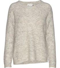 05 the knit pullover stickad tröja grå denim hunter