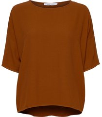 mains tee 5687 blouses short-sleeved brun samsøe samsøe