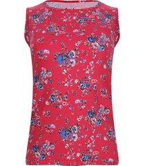top estampado flores hombro ancho color rosado, talla xs