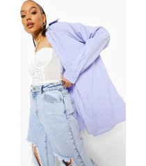 geweven oversized blouse, lilac