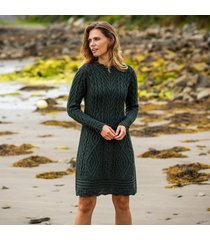 the glenmore army green aran dress small