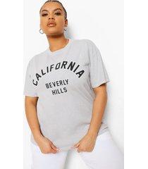 plus overdye california t-shirt, grey marl