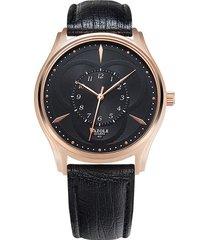 reloj hombres inspección de producción de es para-negro