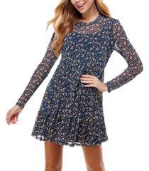 as u wish juniors' floral a-line dress