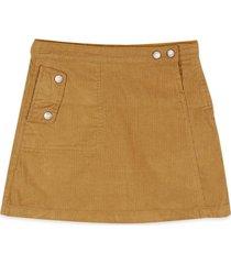 falda cotelé amarillo pillin