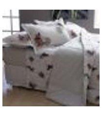 jogo de cama casal innovi 150 fios miau