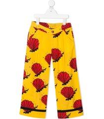 mini rodini shell pattern tailored trousers
