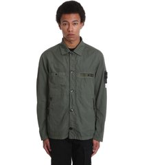 stone island casual jacket in green polyamide