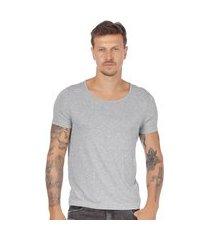 camiseta masculina justa basica preto (30001) gg cinza